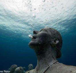 Завораживающее возрождение кораллового рифа на подводных скульптурах