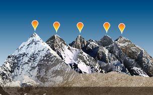 Самые высокие горы и глубокие впадины в мире (флэш-ролик)