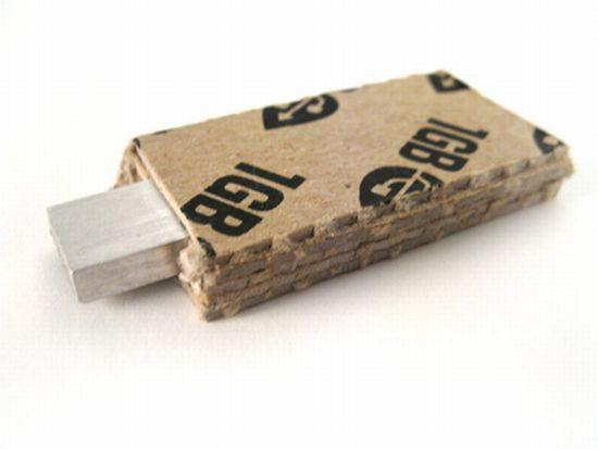 Экологичные флэшки из картона будут продавать рулонами