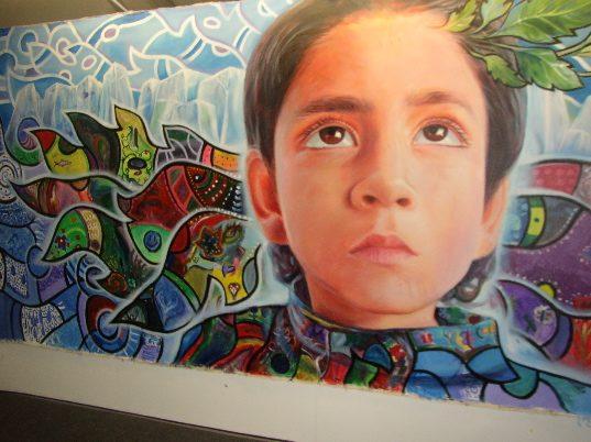 Искусство в деревне на Климатическом форуме в Канкуне