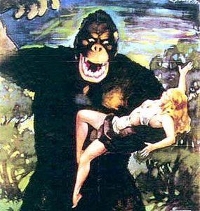 Секс с большой обезьяной